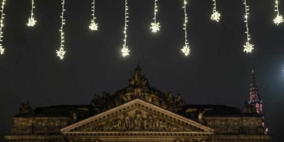 Illuminations de Noël et atmosphère magique