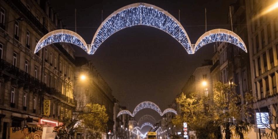 Illuminations de Noël dans le centre de Bruxelles